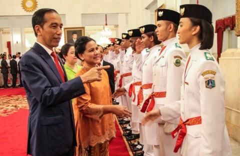 Jokowi Titip Persatuan Indonesia ke Anggota Paskibraka