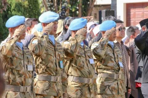 Pasukan Perdamaian PBB RI Hadiri Upacara di Afrika Selatan