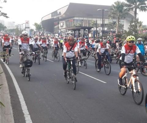 6.500 Warga Tangerang 'Gowes Merdeka' Bareng