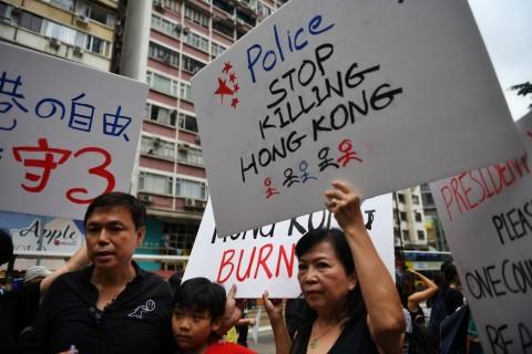Keluarga Polisi Hong Kong Diintimidasi Pedemo