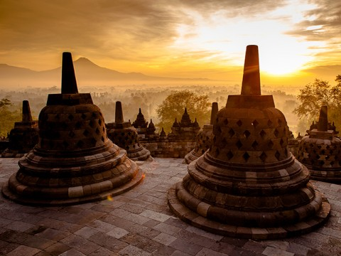 Tour d'Indonesia Commences from Borobudur Temple in Central Java