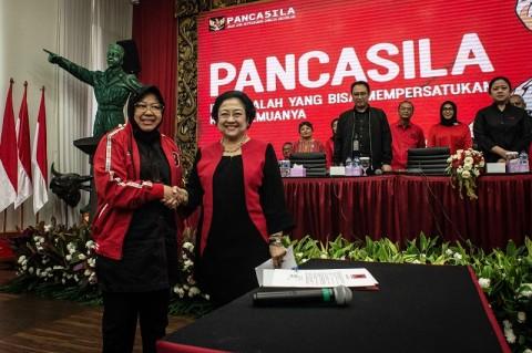 Megawati Lantik Risma Sebagai Ketua DPP PDIP