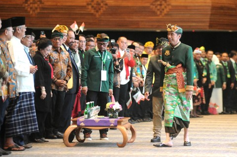 Jokowi Hadiri Muktamar V PKB di Bali