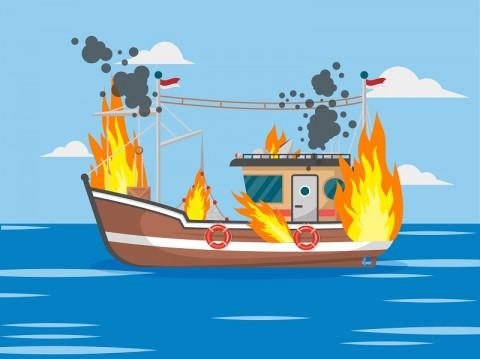 Penumpang Kapal Terbakar di Sumenep Terluka Ringan