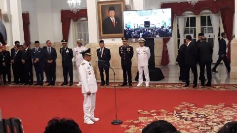 Presiden Lantik Rusli Baco Jadi Wagub Sulteng