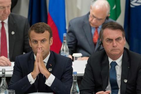 Macron Marah Istrinya Diejek Presiden Brasil