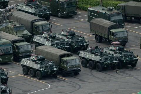 Tiongkok Kirim Pasukan Tambahan ke Perbatasan Hong Kong