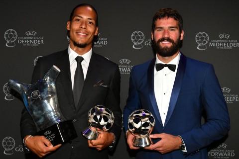 Daftar Pemain Terbaik Eropa: Van Dijk Borong Dua Gelar
