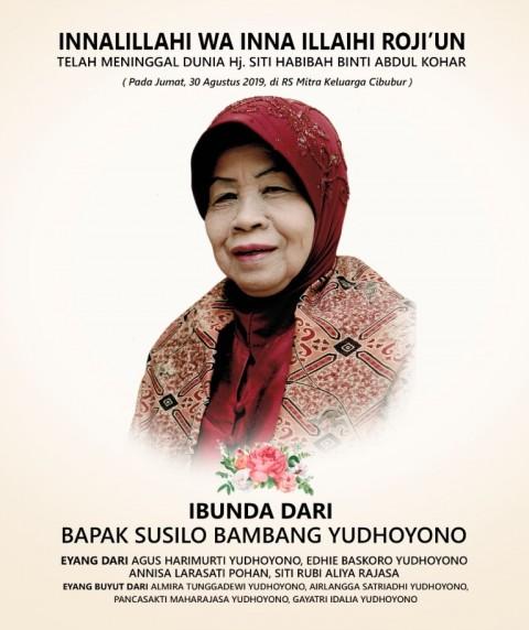 Ibunda SBY Meninggal