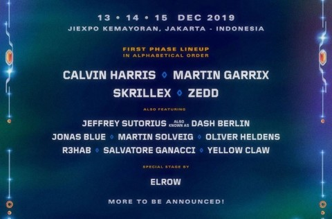 Calvin Harris, Skrillex hingga Martin Garrix akan Tampil di DWP 2019