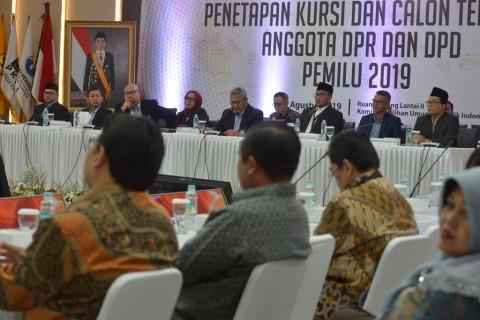 KPU Tetapkan 136 anggota DPD Terpilih