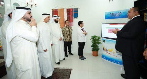 Minister Inaugurates Oil and Gas Corner at Indonesian Embassy in Kuwait