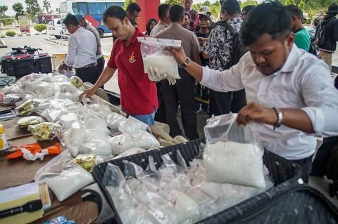 Polres Bintan Gagalkan Penyelundupan 118 Kg Sabu