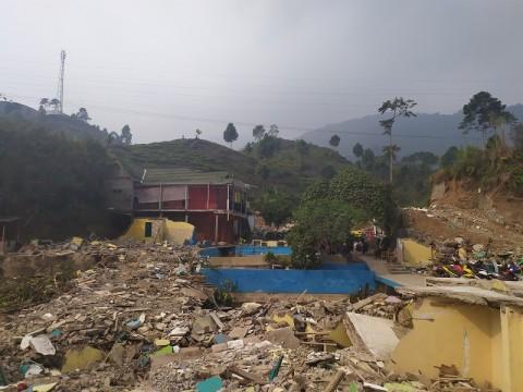 Lahan Gusuran di Puncak Bakal Jadi Area Peristirahatan