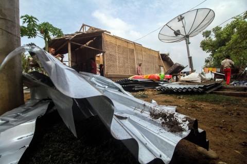 Puluhan Rumah Warga Aceh Utara Diterjang Putih Beliung
