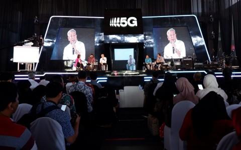 Tri Uji Koneksi 5G di Surabaya