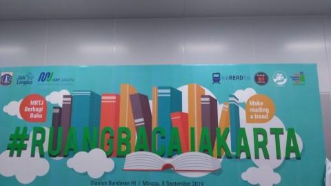 13 Stasiun MRT Jakarta Dilengkapi Perpustakaan