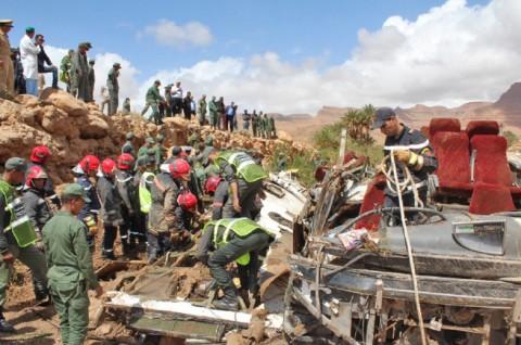 Kecelakaan Bus di Tengah Banjir Maroko Tewaskan 11 Orang