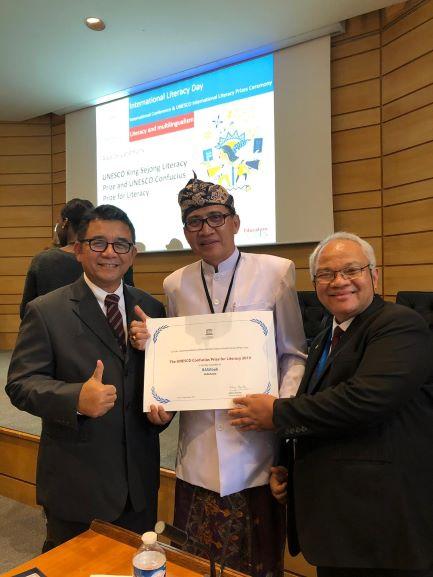 Indonesia Raih Penghargaan Literasi Dunia dari Unesco