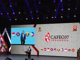 Jokowi Opens CAFEO37 in Jakarta