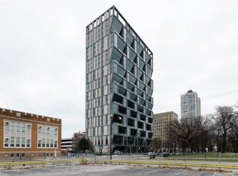 Apartemen Hemat Energi dengan Desain Jendela Unik