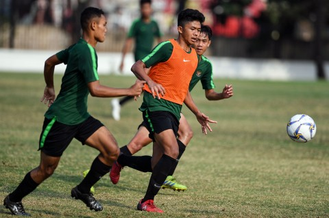 Timnas Gelar Latihan Jelang Kualifikasi Piala Asia U-16
