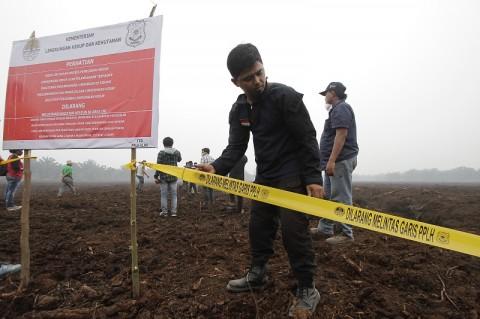 Lahan Perusahaan Sawit Malaysia di Riau Disegel