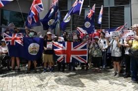 Pedemo Hong Kong Minta Dukungan di Luar Konsulat Inggris