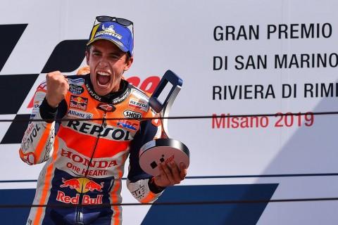 Menang Duel dengan Quartararo, Marquez Juara MotoGP San Marino