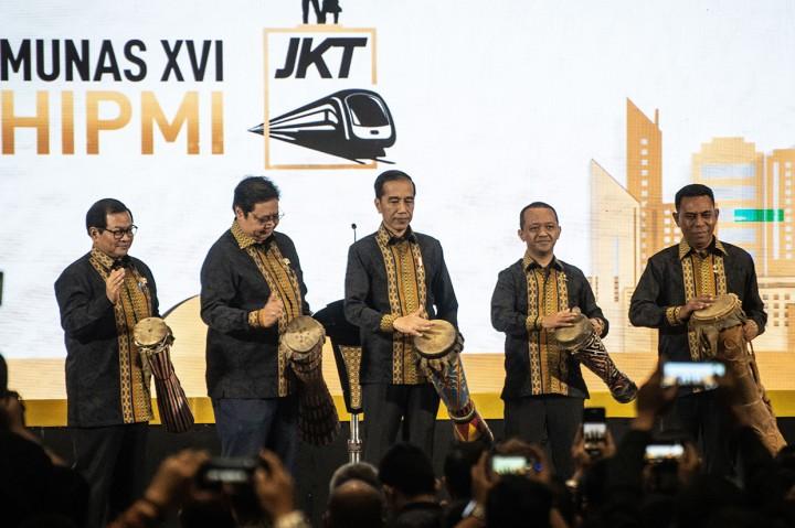 Jokowi Buka Munas HIPMI 2019