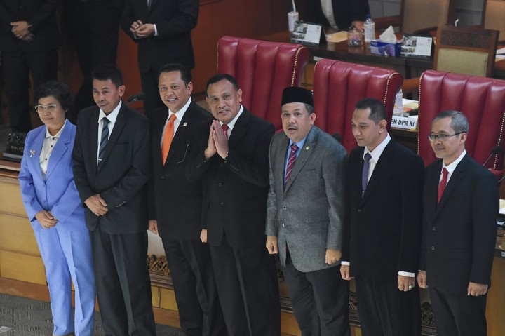 DPR Sahkan 5 Pimpinan KPK Terpilih