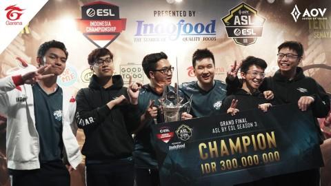 Evos Esports Juara Bertahan Tiga AOV Star League