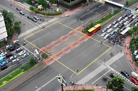 Pahami Fungsi Marka Yellow Box Junction