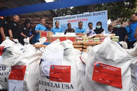 BNN Musnahkan Ratusan Kg Sabu dan Ganja
