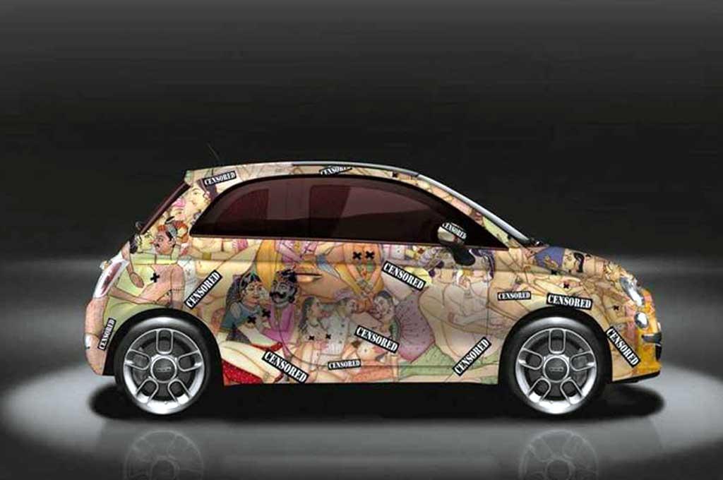 Garage Italia Customs mengubah FIAT 500 menjadi kitab Kama Sutera berjalan. Garage Italia Customs