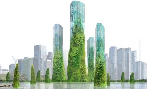 Desain Menara di Atas Teluk Tiongkok