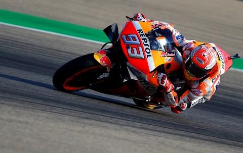 Marc Marquez Pimpin Free Practice I MotoGP Aragon