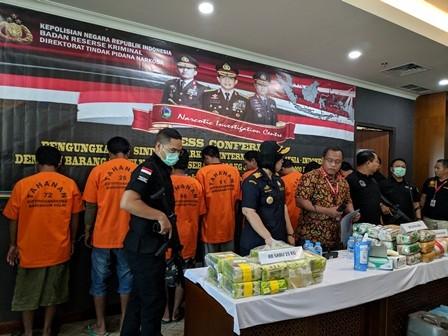 Polri Gagalkan Penyelundupan Sabu dari Malaysia