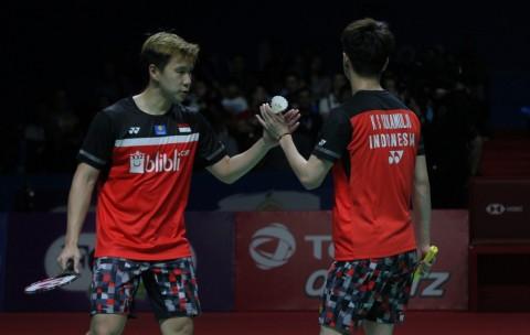 Marcus/Kevin Tantang Ahsan/Hendra di Final China Open 2019