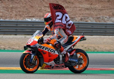 Marquez Amankan Kemenenangan ke-200 di MotoGP Aragon