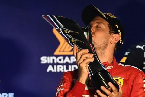 Sebastian Vettel Akhiri Puasa Kemenangan di Singapura