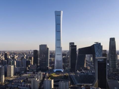 Gedung Tertinggi Menyerupai Kapal Tradisional di Beijing