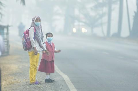 Sekolah di Palembang Diliburkan Akibat Kabut Asap