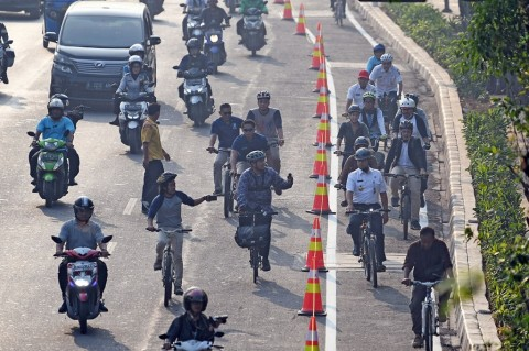Penyerobot Jalur Sepeda Belum Tersentuh Hukum