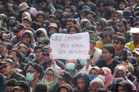 Ribuan Mahasiswa Ikuti Aksi #GejayanMemanggil di Yogyakarta