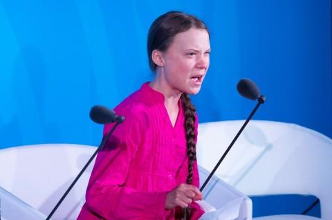 Remaja Greta Thunberg Suarakan Perubahan Iklim di PBB