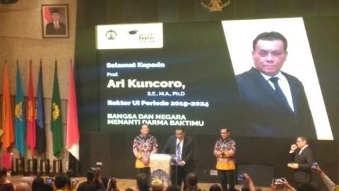 Ari Kuncoro Rektor Terpilih UI