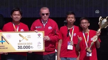 ITS Students Win UAV Competition in Turkey
