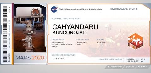 Dapatkan Tiket Misi NASA ke Mars di 2020, Begini Caranya