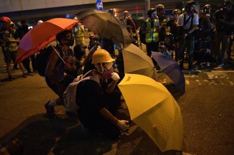 Demonstran Hong Kong Peringati 5 Tahun Gerakan Payung